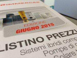 Listino Immergas ErP 2015